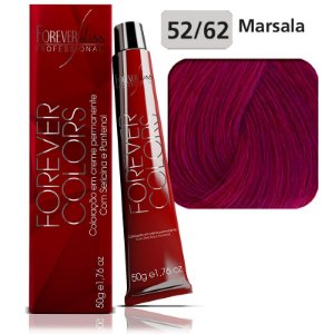 Forever Colors Coloração - Vermelho Especial 52-62 Castanho Violeta Marsala