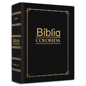 Bíblia Colorida Jovem Pequena Capa Luxo Preta