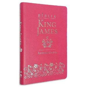 Bíblia King James Atualizada Slim Rosa