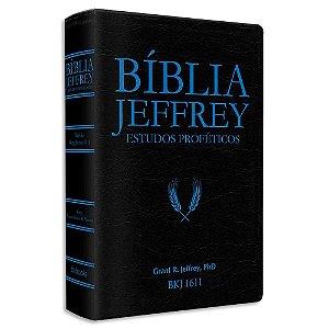 Bíblia Jeffrey de Estudos Proféticos Preta e Azul