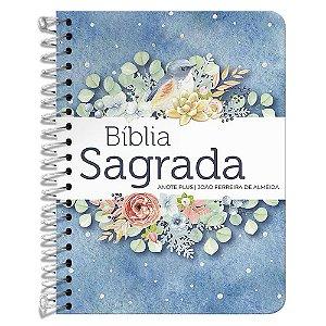 Bíblia Anote Espiral Ponto de Luz Letra Média