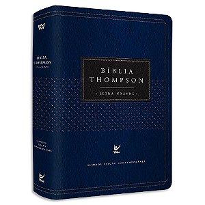 Bíblia Thompson Letra Grande Azul