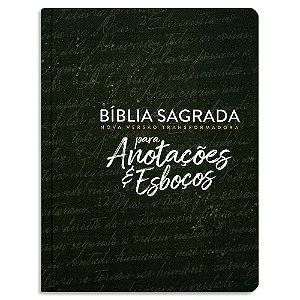 Bíblia Sagrada NVT para Anotações e Esboços Preta