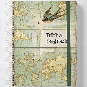 Bíblia Anote Jornada Espiral NAA Send
