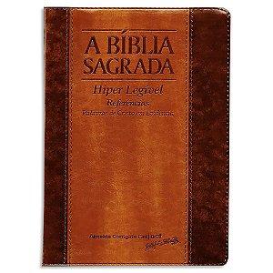 Bíblia ACF Letra ExtraGigante com Índice Chocolate Havana