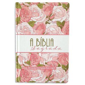 Bíblia ACF Letra Gigante Rosas