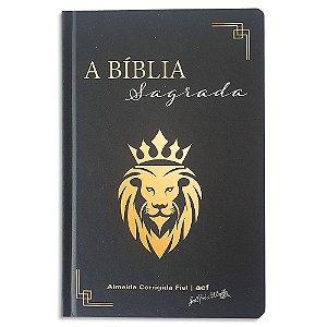 Bíblia ACF Letra Gigante Leão Preta