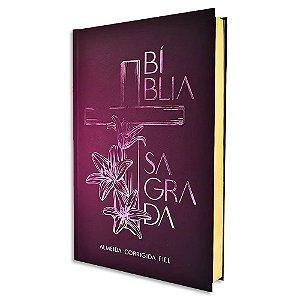 Bíblia ACF Cruz Floral
