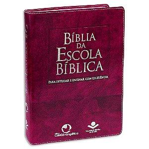 Bíblia da Escola Bíblica versão RA Capa Púrpura