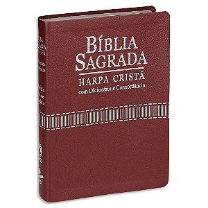 Bíblia com Harpa Letra Grande RC capa Vinho