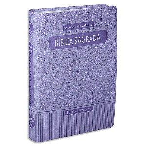 Bíblia Feminina Letra Gigante RA capa Violeta com Índice