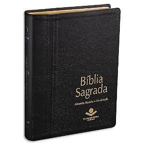 Bíblia Almeida Letra Gigante capa Couro Legítimo