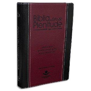 Bíblia de Estudo Plenitude RC capa Vinho e Preta