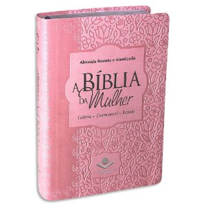 A Bíblia da Mulher RA Média Rosa Claro