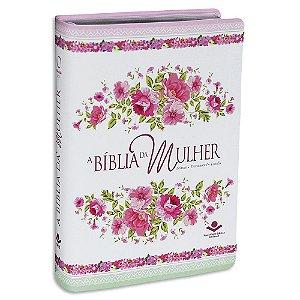 A Bíblia da Mulher capa Branca Florida
