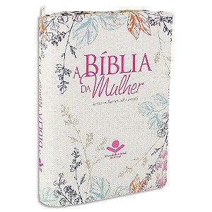 A Bíblia da Mulher RA Média Florida com Zíper
