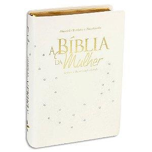A Bíblia da Mulher RA Média Branca com Brilho
