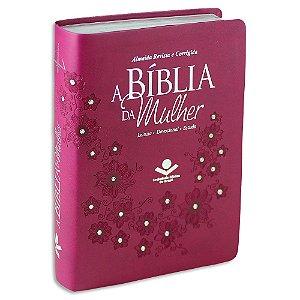 A Bíblia da Mulher RC Média Vinho com Brilho