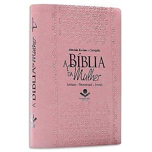 A Bíblia da Mulher RC Média Rosa Claro