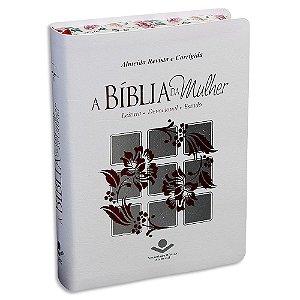 A Bíblia da Mulher RC Média Branca e Prata