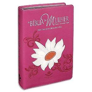 A Bíblia da Mulher NTLH Média Rosa Margarida