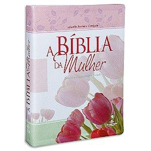 A Bíblia da Mulher RC capa Tulipa formato Grande