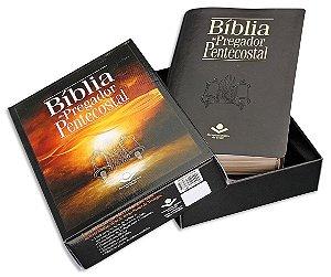 Bíblia do Pregador Pentecostal RC capa Preta Nobre