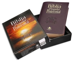 Bíblia do Pregador Pentecostal RC capa Vinho Nobre