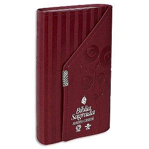 Bíblia com Harpa RC capa vermelha tipo carteira