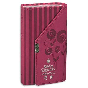 Bíblia com Harpa RC capa Rosa tipo Carteira