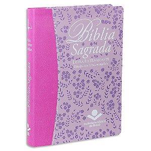Bíblia da Mulher RC Letra Extragigante capa rosa e lilás