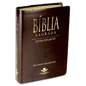 Bíblia NTLH Letra Gigante capa marrom luxo