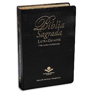 Bíblia Letra Gigante RA capa preta luxo