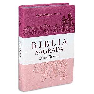 Bíblia Sagrada da Mulher Letra Gigante capa tritone Pink
