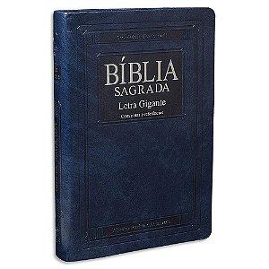 Bíblia Letra Gigante RA capa Azul Clássico