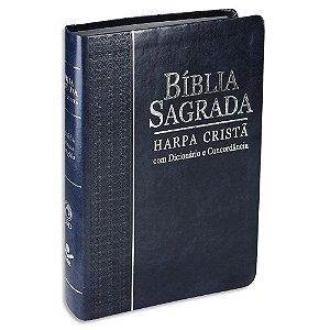 Bíblia com Harpa Letra Grande RC capa Azul
