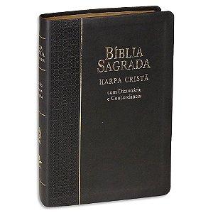 Bíblia com Harpa Letra Grande RC capa Preta