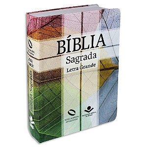 Bíblia Letra Grande NAA capa semiflexível Cruz