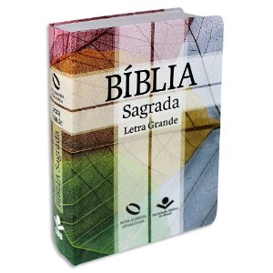 Bíblia Letra Grande NAA capa semiflexível Cruz sem índice