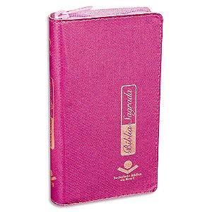 Bíblia Carteira capa Pink RA com Zíper