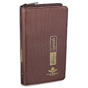Bíblia Carteira capa Marrom RA com Zíper