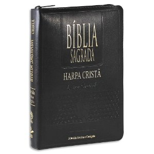 Bíblia com Harpa Letra Grande capa Preta