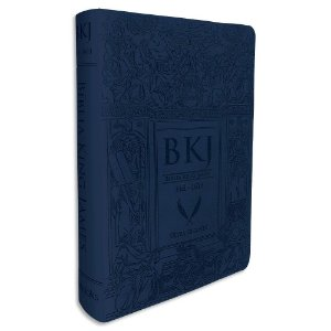 Bíblia King James 1611 Azul Letras Gigantes