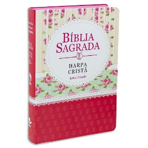 Bíblia Sagrada com Harpa Letra Grande Ilustrada Econômica