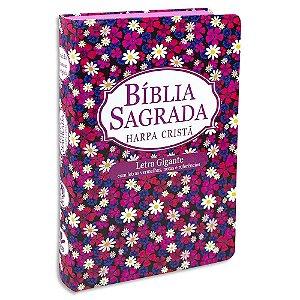 Bíblia Feminina com Harpa Letra Gigante Margaridas