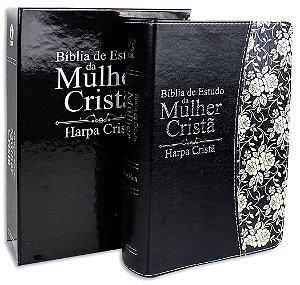 Bíblia de Estudo da Mulher Cristã com Harpa capa Preta