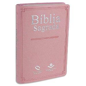 Bíblia Nova Almeida Atualizada Letra Gigante capa Rosa