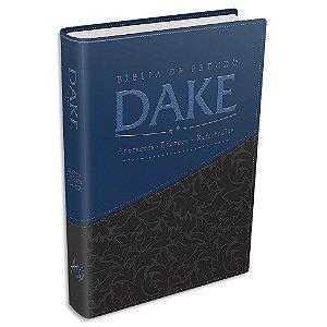 Bíblia Dake capa Azul e Cinza