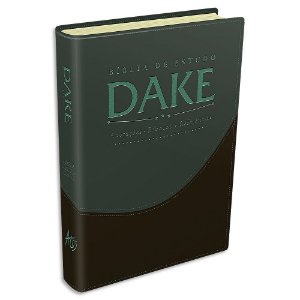 Bíblia Dake capa Verde e Preta