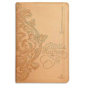 Bíblia da Mulher de Fé capa Dourada